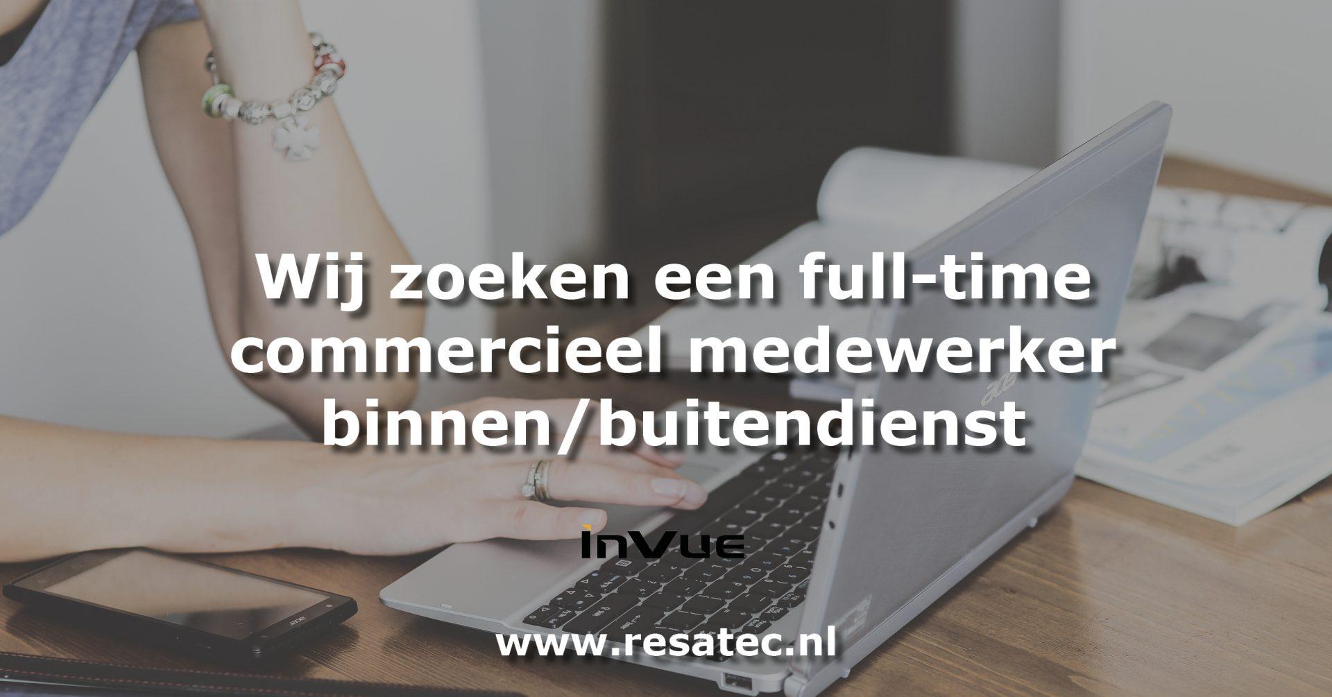 Vacature commercieel medewerker invue Nederland